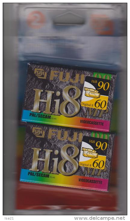 2 Cassettes Pour Camescopes FUJI Hi8 MP 90/60 Neuves - Cassettes Vidéo VHS