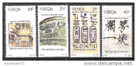 Venda Südafrika RSA 1983 Kultur Schrift Bildung Lesen Indien Keilschrift Hieroglyphen Kalligraphie China, Mi. 74-7 ** - Venda