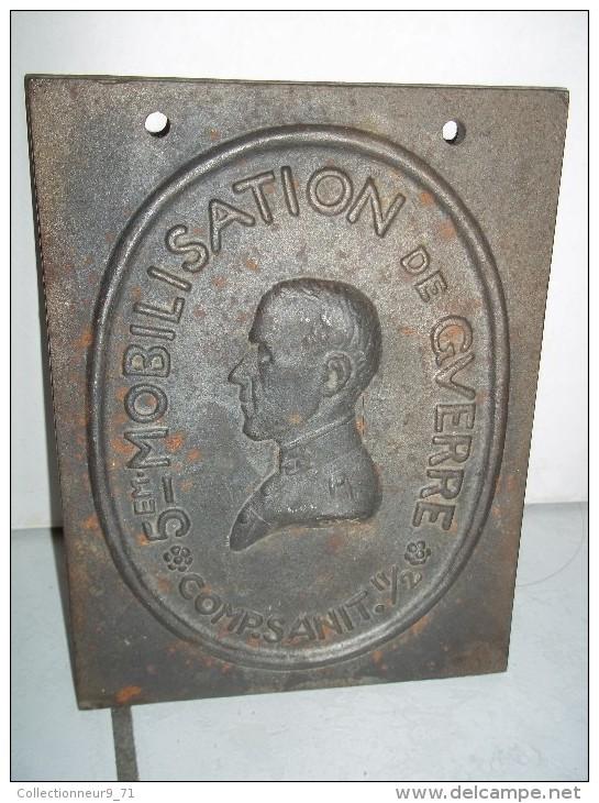 Plaque De Mobilisation De Guerre Pour La Compagnie Sanitaire 11/2 Pour 1917 Ww1 - Militaria
