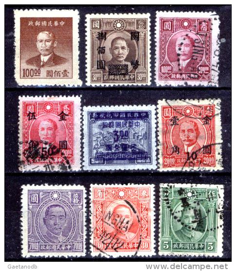 """Cina-038 - Valori """"Sun Yat Sen"""" E Soprastampati. - China"""