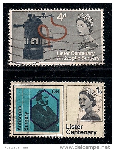 UK 1965 Used Stamp(s) Joseph Lister´s Discovery Nrs. 390-391 - 1952-.... (Elizabeth II)