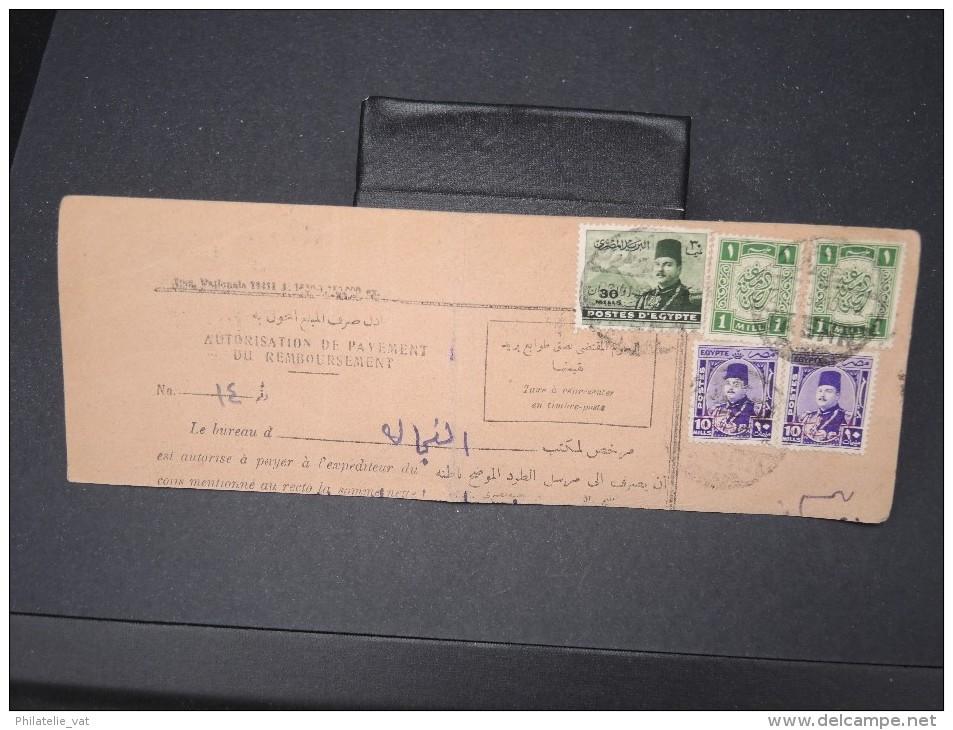 EGYPTE- Bulletin D ´expédition  En 1952 à Voir Lot P5662 - Covers & Documents