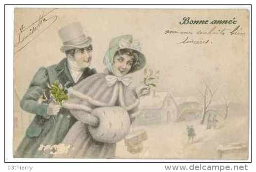CPA ILLUSTRATEUR EDITEUR V. K. VIENNE Nr 5002/a COUPLE - Künstlerkarten