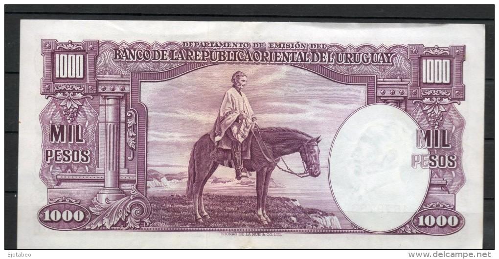 9 URUGUAY -Emitidos Desde 1939 A 1966- Bill. Nº 40-Bco. República O.del Uruguay-1 Bill. De 1000 - Uruguay