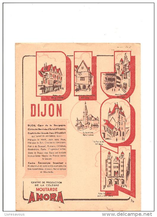 Protège Cahier La Tour Du Guet De Philippe Le Bon Offert Par La Moutarde De Dijon AMORA - Protège-cahiers