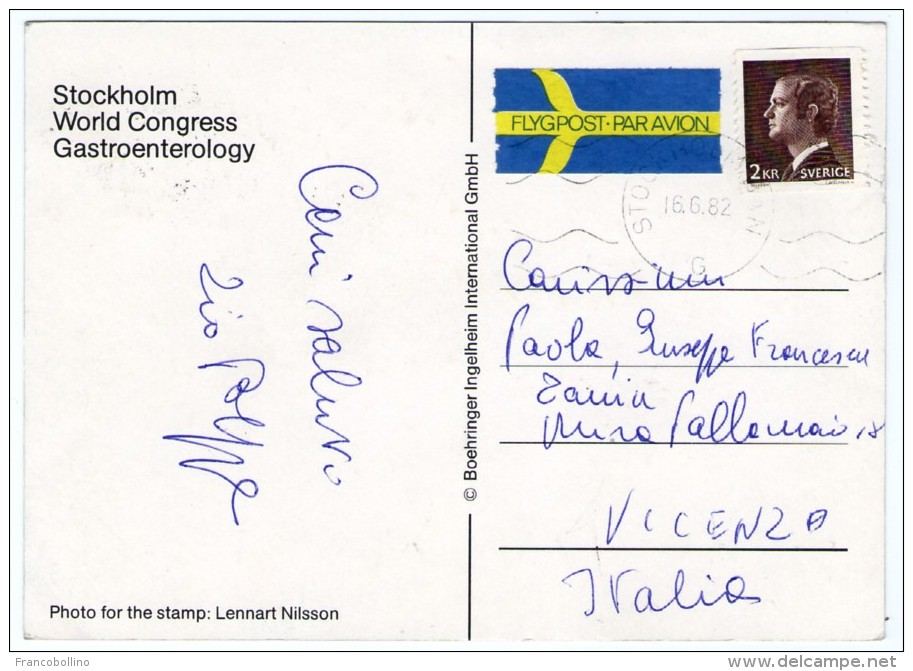 STOCKHOLM WORLD CONGRESS GASTROENTEROLOGY 1982 / ADVERTISING /PUBLICITE' BOEHRINGER INGELHEIM / MEDICINE - Salute