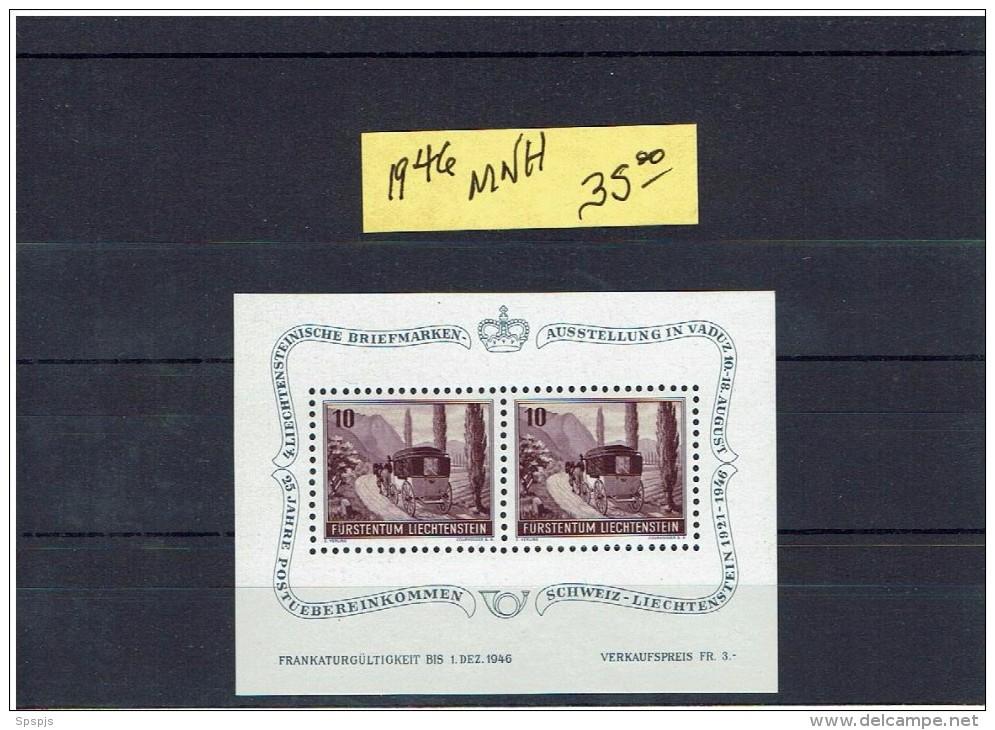 LIECHTENSTEIN....MNH...Scott Cat Val = $35.00 - Blocks & Sheetlets & Panes