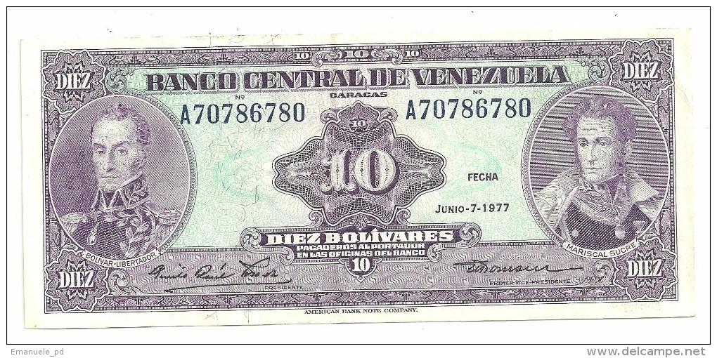 Venezuela 10 Bolivares 07/06/1977 - Venezuela