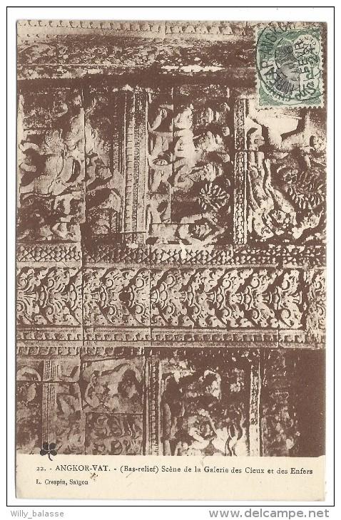 ///  CPA - Asie - CAMBODGE - ANGKOR - Scene De La Galerie Des Cieux Et Des Enfers  // - Cambodge