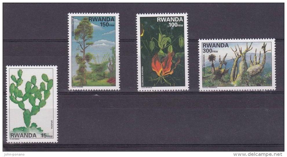 9] Série Complete Set ** Rwanda Flore Flora Cactus 1997 - Rwanda