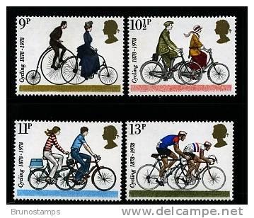 GREAT BRITAIN - 1978  CYCLING   SET MINT NH - 1952-.... (Elisabetta II)