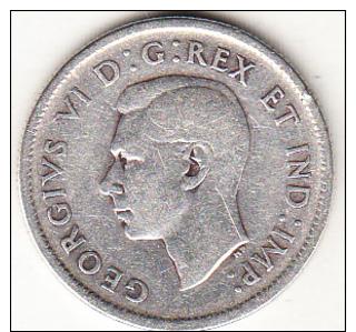 CANADA  1938     25 CENT. GEORGE VI.ARGENT(PLATA)  TTB. CN 4366 - Canada