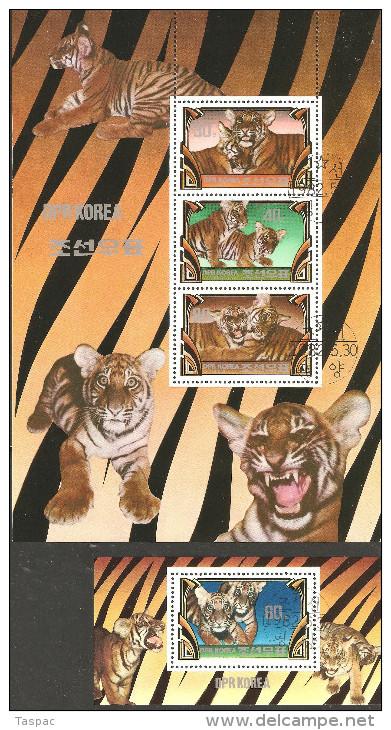 1982 Mi# Blocks 116-117 Used - Tigers - Felinos