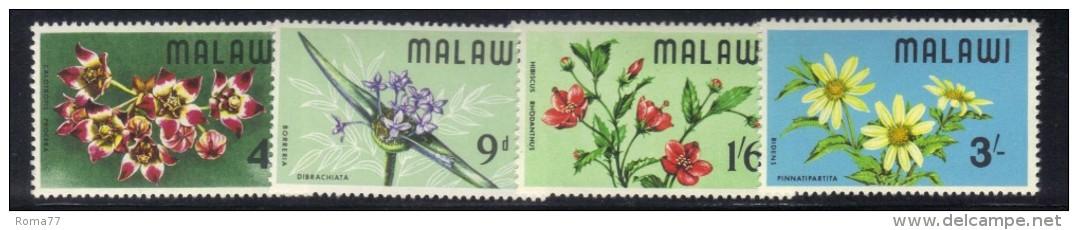 CI965 - MALAWI 1968, Serie N. 80/83  *** MNH . Fiori - Malawi (1964-...)