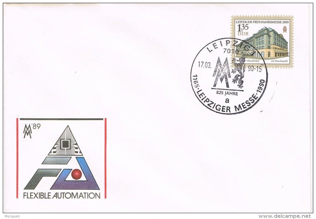13162. Carta Entero Postal LEIPZIG (Alrmania DDR) 1990. Leipziger Messe - [6] República Democrática