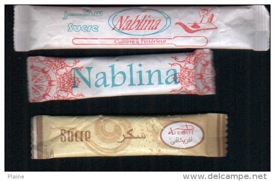 Algerie-3 Emballages De Sucre  Plein. - Sucres