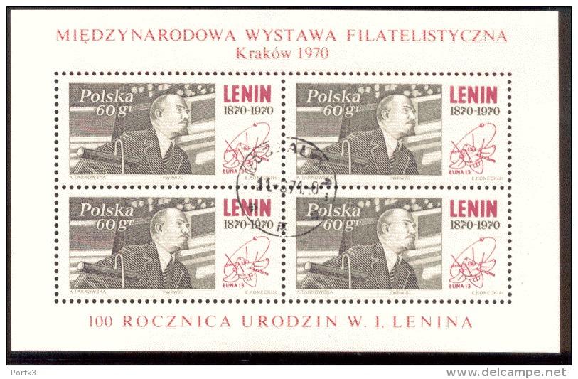 Polen Block 42 Briefmarkenausstellung Krakau  Used Gestempelt - Blocks & Sheetlets & Panes