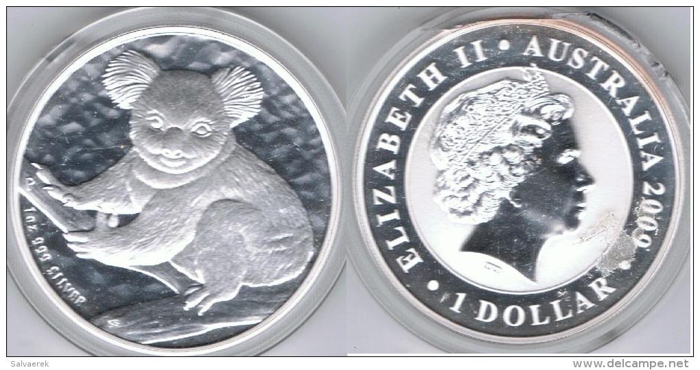 AUSTRALIA DOLLAR OUNCE PLATA SILVER 2009 - Sin Clasificación