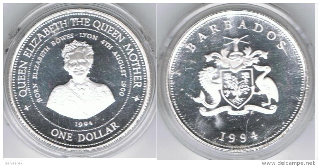 BARBADOS DOLLAR 1994 PLATA SILVER - Barbades