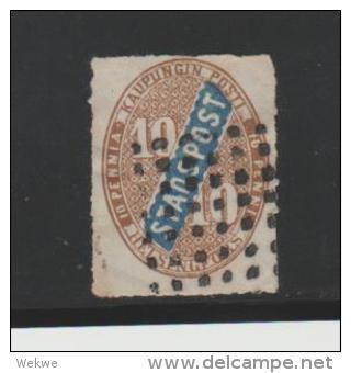 Finnland Helsingfors, Stadtpost P 2 (1868) Puntentwertung - Oblitérés
