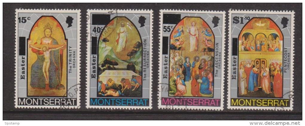 Montserrat 1976 Easter Painting Set 4 VFU - Montserrat