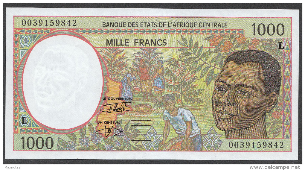 GABON (Central African States) : 1000 Francs  - 1993-2000 - P402L -  UNC - Guinée Equatoriale