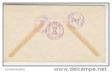Switzerland 1938 Pro Juventute 4v On Registred FDC To Seattle USA (F3487) - FDC