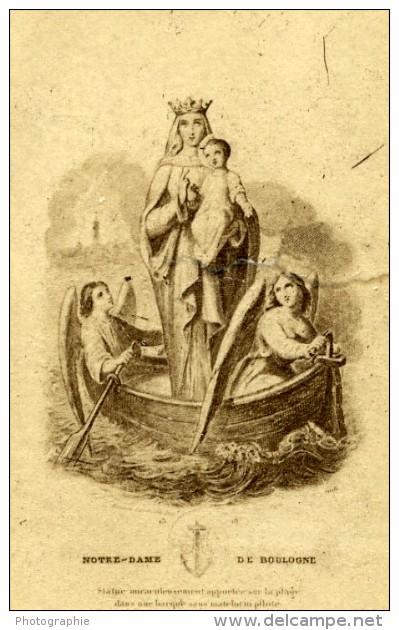 France Boulogne Sur Mer Religion Image Pieuse Canivet Photo Albumine Sur Papier Dentelle 1870's - Images Religieuses