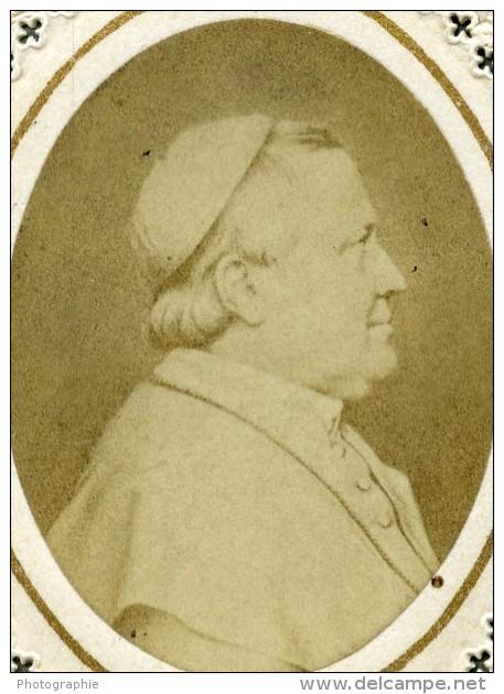 France Religion Image Pieuse Canivet Pape Photo Albumine Sur Papier Dentelle 1870's - Devotion Images
