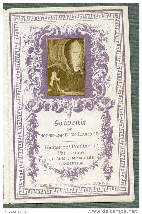 France Lourdes Religion Image Pieuse Canivet Photo Albumine Sur Papier Daniel 1880 - Devotion Images