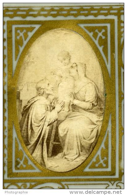 France Religion Image Pieuse Canivet Photo Albumine Sur Celluloid Bouasse 1880 - Devotion Images