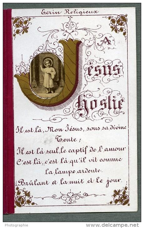 France Jesus Religion Image Pieuse Canivet Photo Albumine Sur Papier 1880 - Devotion Images