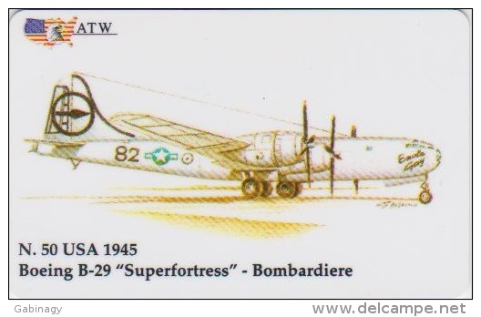 AIRPLANE - ITALY - N. 50 - BOEING - BOMBARDIERE - MILITARY - ARMY - Airplanes
