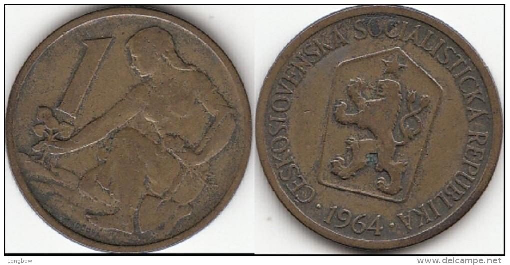 CECOSLOVACCHIA 1 Koruna 1964 KM#50 - Used - Tschechoslowakei