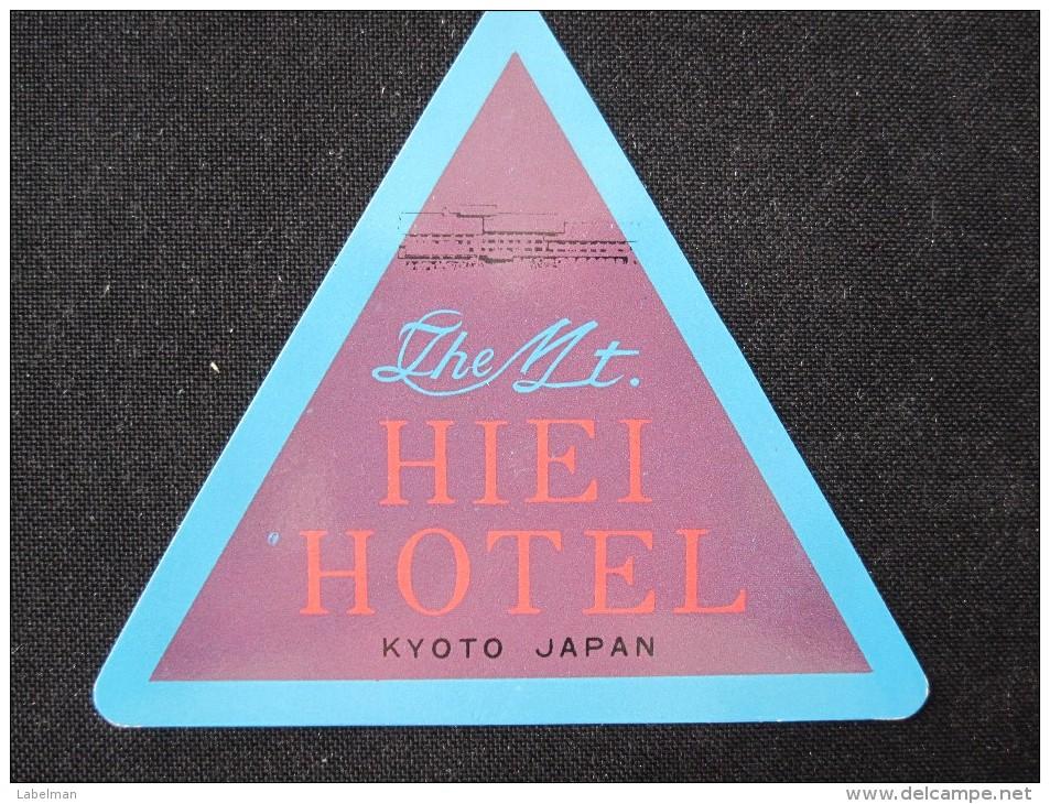 HOTEL MOTOR HOSTEL INN LODGE PENSION MOUNT HIEI KYOTO JAPAN LUGGAGE LABEL ETIQUETTE KOFFERAUFKLEBER DECAL STICKER - Hotel Labels