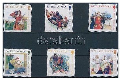 GB Isle Of Man Stamp Vikings Set MNH 2008 Mi 1421-1426 WS176706 - Andere-Europa