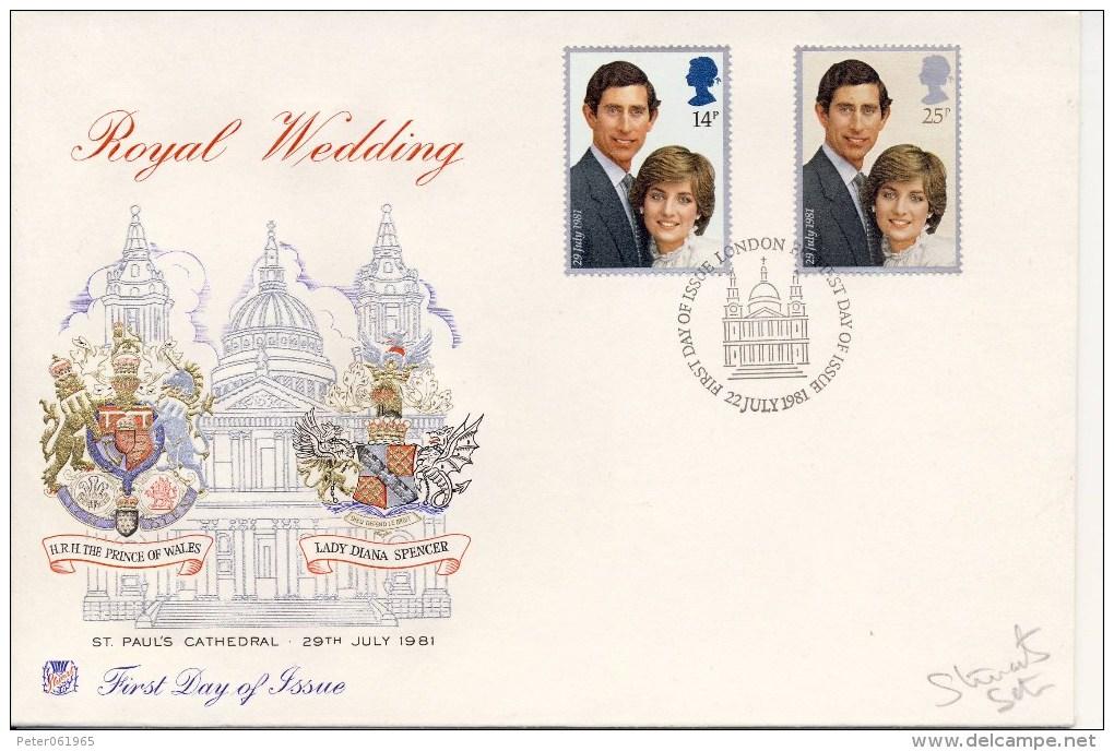 FDC - VK / UK - Koninklijk Huwelijk / Royal Wedding 1981 - FDC