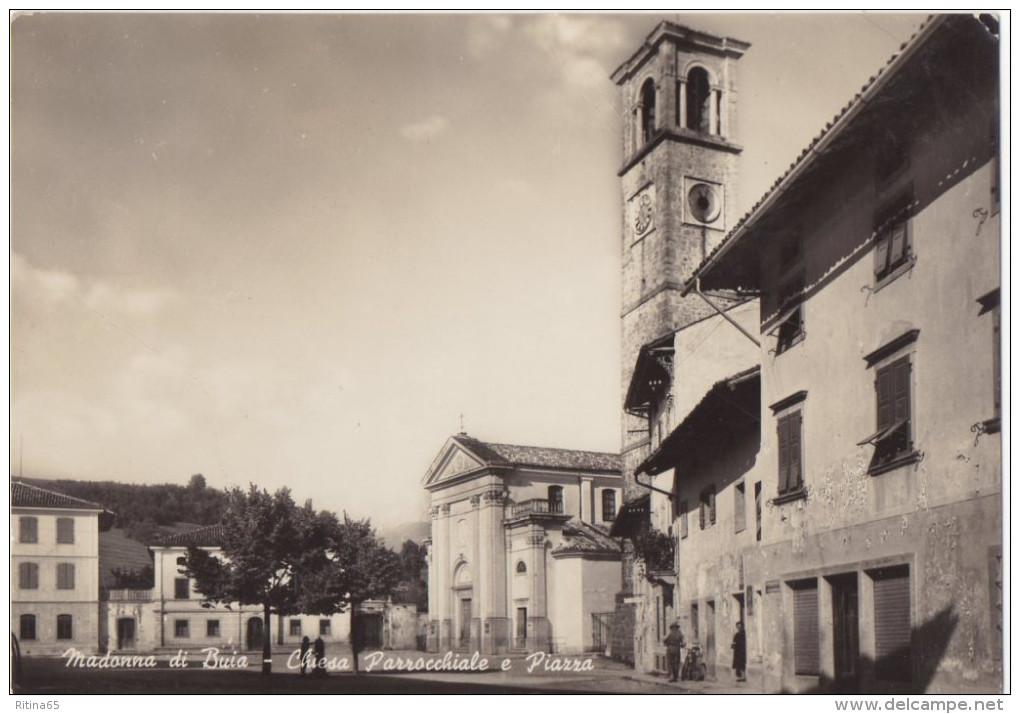 UD1 !!! MADONNA DI BUIA PIAZZA E CHIESA 1955 F.G. !!! - Udine