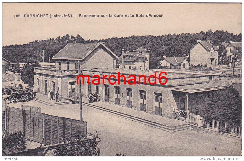 Loire Atlantique Pornichet Panorama Sur La Gare Et Le Bois D Amour éditeur Chapeau N°105 - Pornichet
