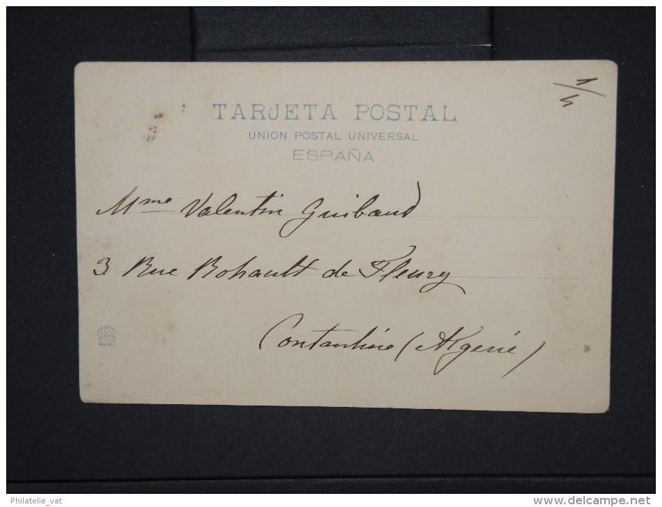 ESPAGNE-Obl De Baleares  Figuerras  Sur Cp Pour  L' Algérie  En 1901 à  Voir    P6181 - Cartas