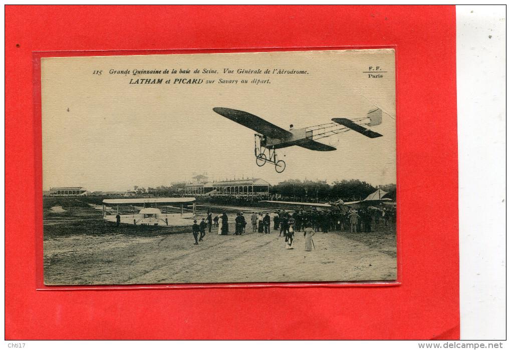 LE HAVRE AVIATION  AERODROME  1910  METIER AVIATEUR  LATHAM ET PICARD SUR   AVION PICARD   CIRC OUI EDIT - Autres