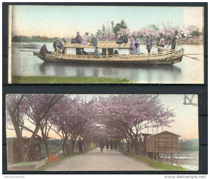 Japan Photo Proofs (?) For Postcards Nikko Temple (1912), Geisha Beauties, Children, Boats - 11 Items - Photography