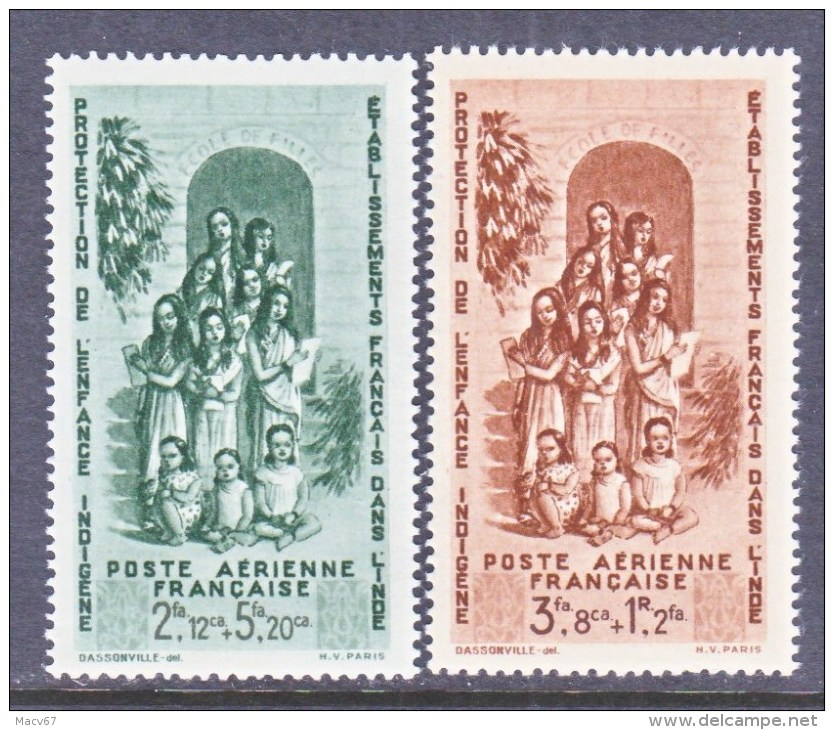 A.O.F.   CB 1-2    **    VICHY - India (1892-1954)