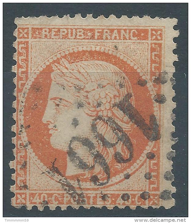 Lot N°29453     Variété/n°38, Oblit GC 1661 GIVORS (68), Ind 3, Taches Blanches Au Dessus De La Tête - 1870 Siege Of Paris