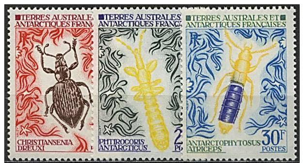 TAAF, N° 049 à N° 051** Y Et T, Insectes, 49 / 51 - Terre Australi E Antartiche Francesi (TAAF)