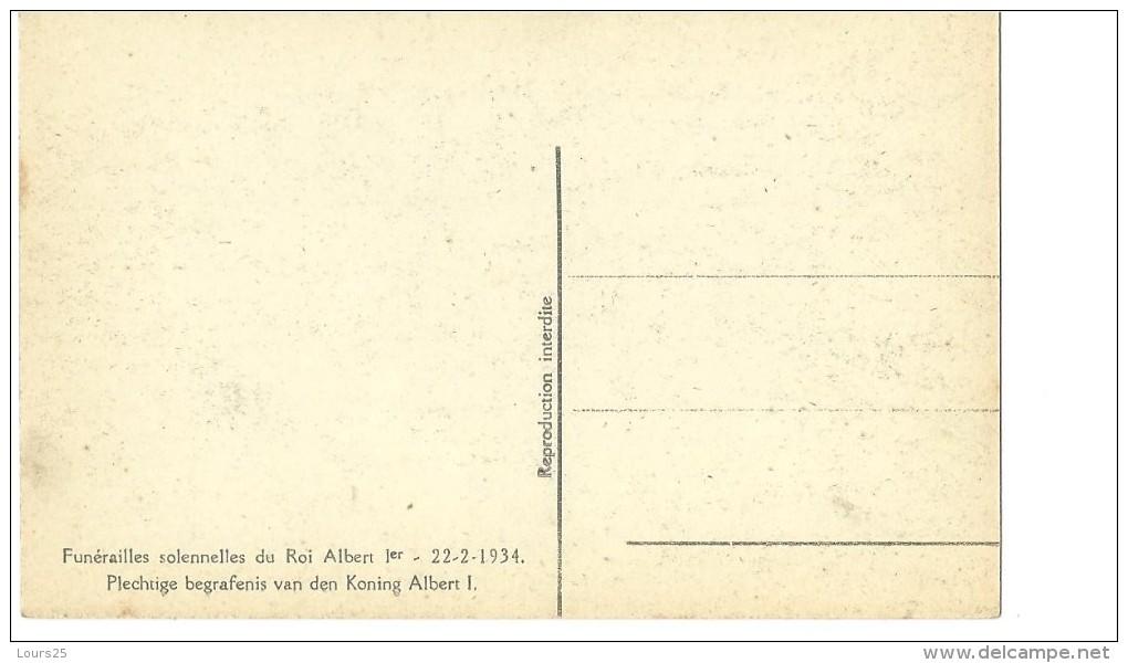! - Belgique - Funérailles Solennelles Du Roi Albert 1er - 22-02-1934 - Funérailles