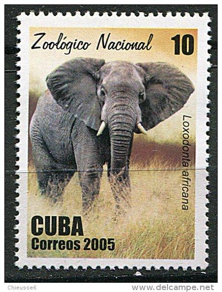 (cl 10 - P35) Cuba** N° 4262 (ref. Michel Au Dos) - Elephant - - Unused Stamps