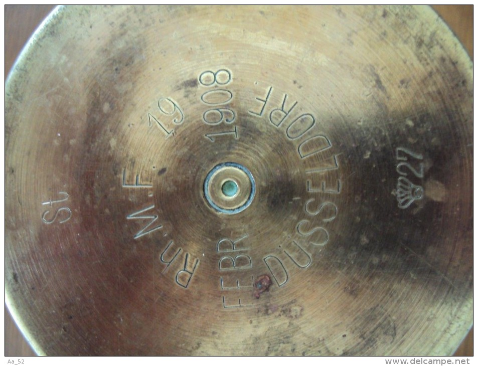 Douille obus 77mm 1908 dusseldorf allemand ww1 - Mondial relay contact ...