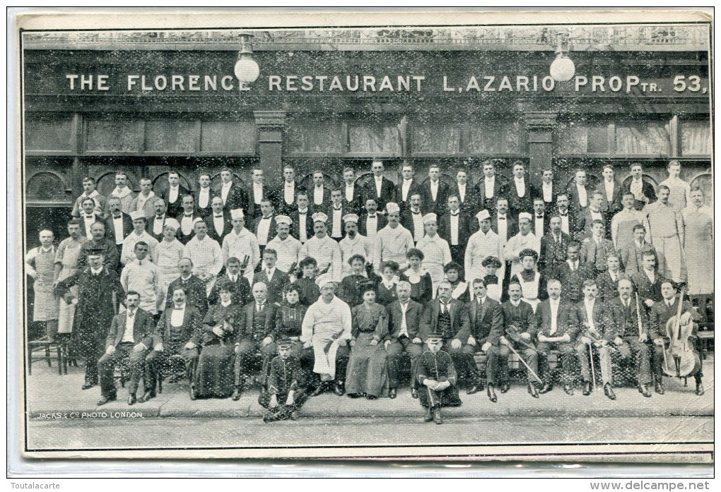 POST CARD ENGLAND LONDON THE FLORENCE RESTAURANT 1908 - Other