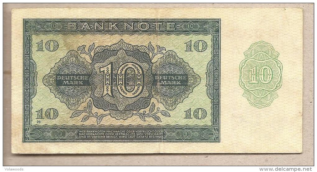 Germania - Banconota Circolata Da 10 Marchi - 1948 - [ 5] 1945-1949 : Occupazione Degli Alleati